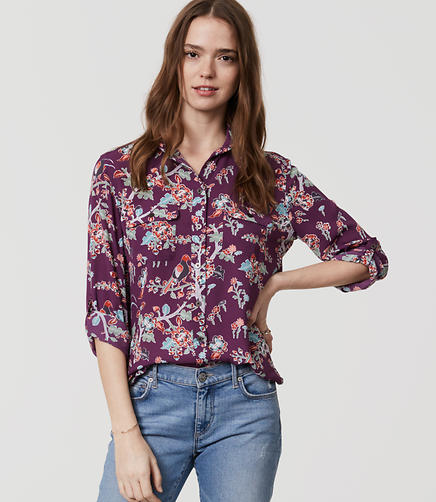 Image of Bird Garden Utility Blouse