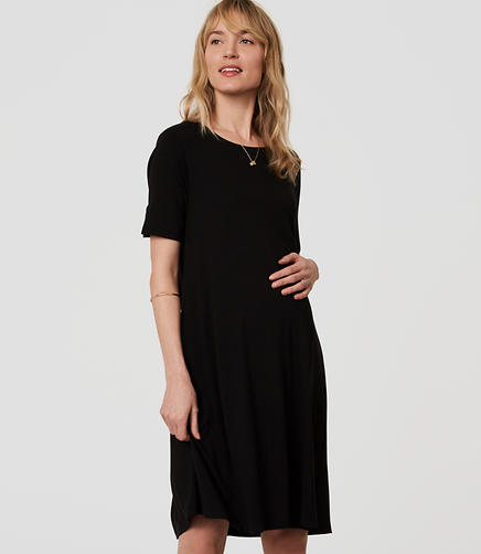 Image of Maternity Short Sleeve Swing Dress