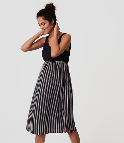 Image of Maternity Striped Duet Dress