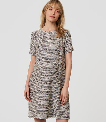 Petite Maternity Boucle Pocket Dress