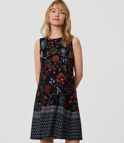 Image of Petite Maternity Primavera Swing Dress