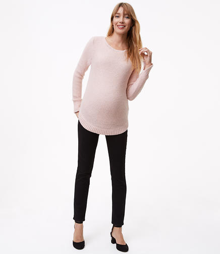 Petite Maternity Skinny Jeans in Black