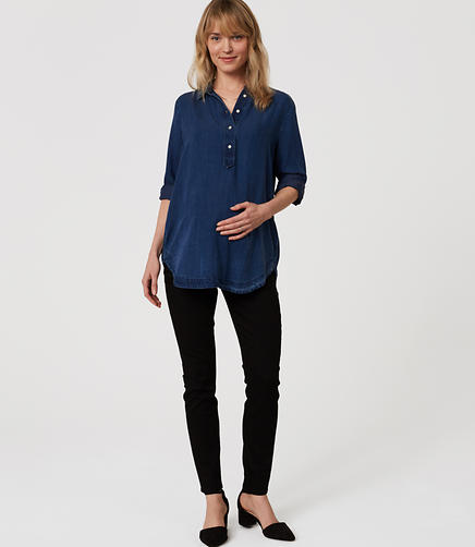 Image of Petite Maternity Skinny Jeans in Black