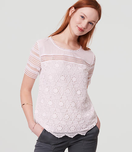 Image of Daisy Chain Lace Tee