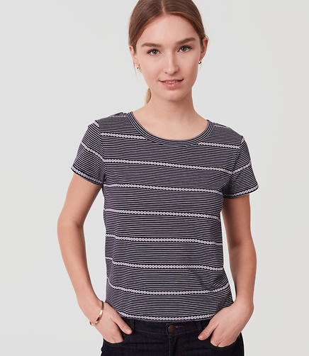 Image of Petite Mixed Stripe Vintage Soft Tee