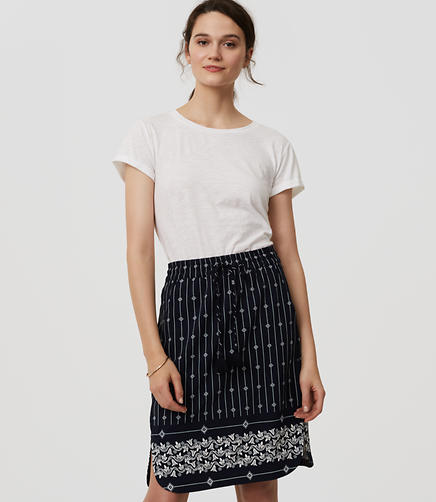 Image of Petite Diamante Drawstring Pencil Skirt