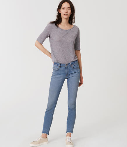 Image of Modern Skinny Ankle Jeans in Light Enzyme Wash