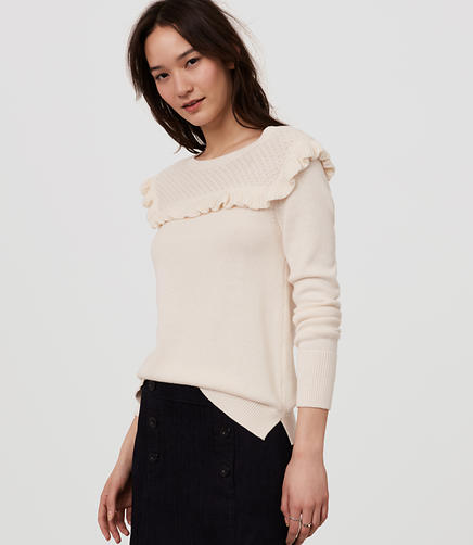 Image of Ruffle Yoke Sweater
