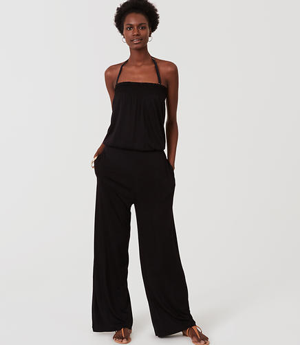 Image of LOFT Beach Strapless Jumpsuit