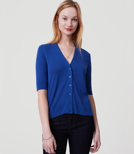 Image of Petite Short Sleeve Cardigan