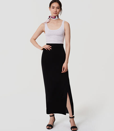 Image of Petite Pull On Maxi Pencil Skirt