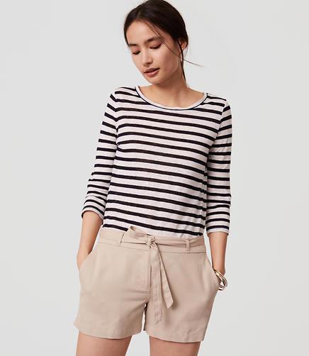 Image of Petite Tie Waist Shorts