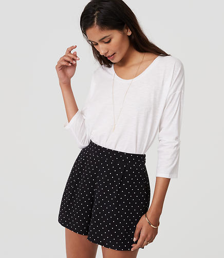 Image of Polka Dot Pleated Shorts
