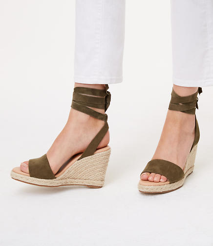 Image of Ankle Tie Wedge Espadrilles