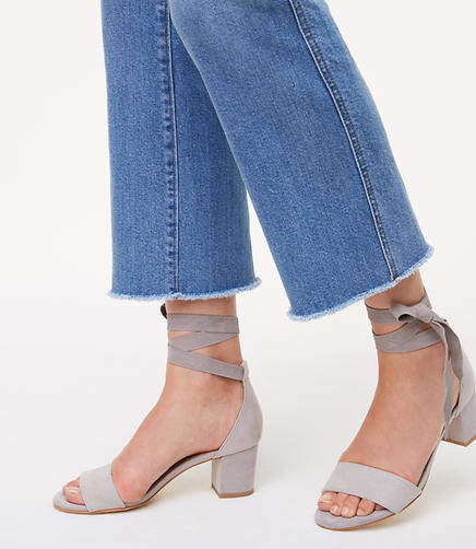 Ankle Wrap Block Heels