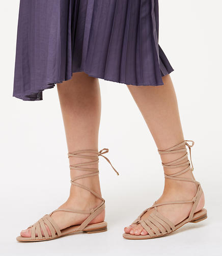 Image of Strappy Lace Up Sandals