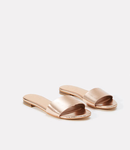 Image of Metallic Slide Sandals