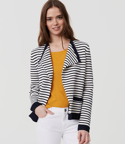 Image of Petite Striped Knit Jacket