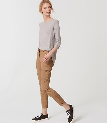 Image of Sanded Sateen Cargo Pants