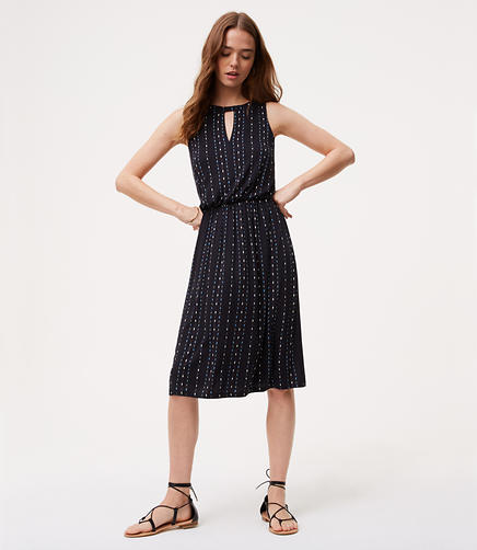 Image of Dotted Keyhole Dress