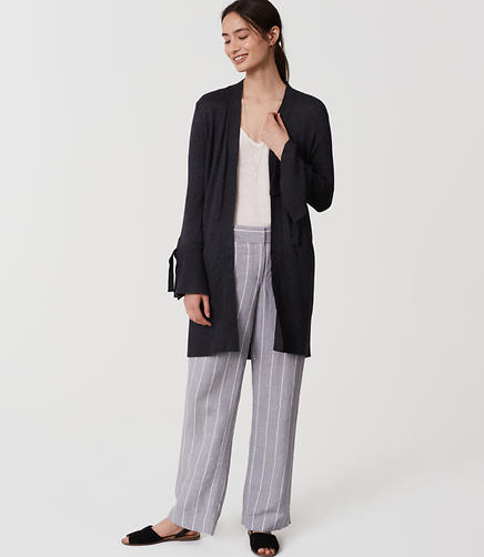 Image of Tie Cuff Open Cardigan
