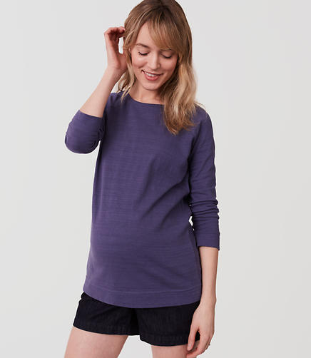 Image of Maternity Textured Sweatshirt