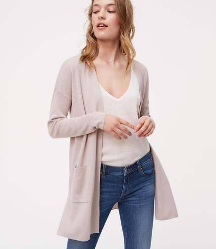 Image of Long Open Cardigan