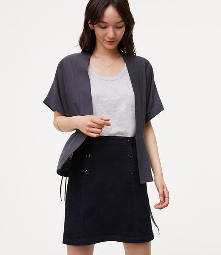 Image of Side Drawstring Cardigan