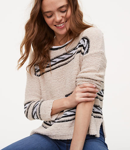 Image of Rope Striped Sweater