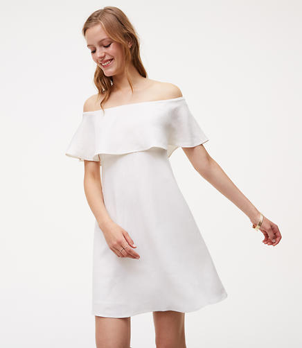 Image of Flounce Off The Shoulder Dress