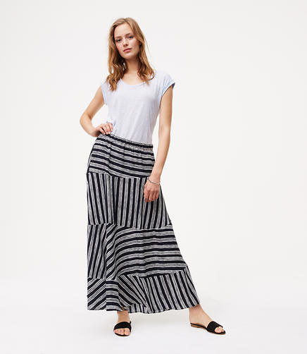 Image of Stripeblock Maxi Skirt