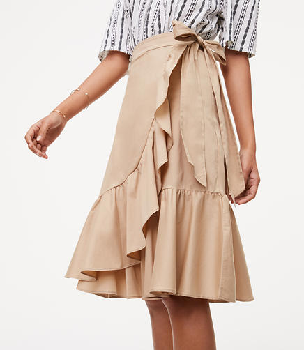 Image of Ruffled Wrap Skirt