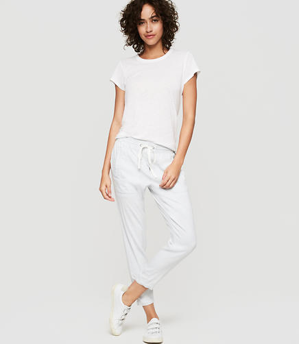 Image of Lou & Grey Striped Softstretch Linen Pants