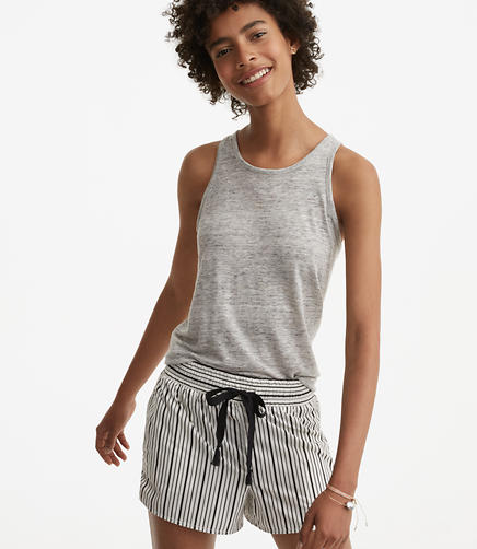 Image of Lou & Grey Striped Poplin Shorts