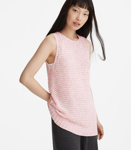 Lou & Grey Stitchy Sleeveless Sweater Tunic