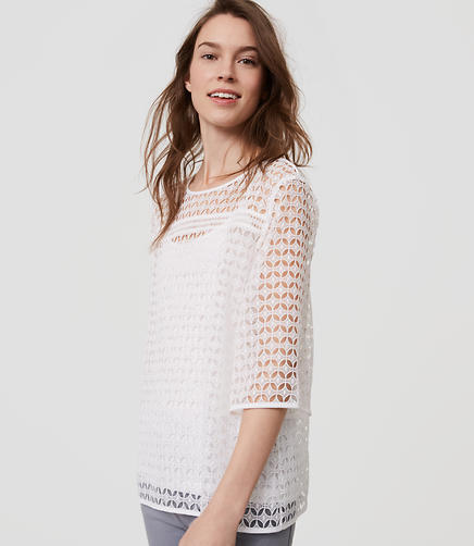 Image of Geo Lace Top