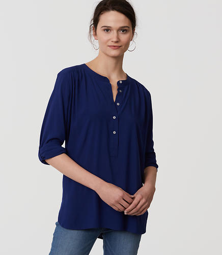 Image of Henley Utility Blouse