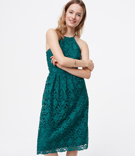 Image of Petite Lace Halter Dress