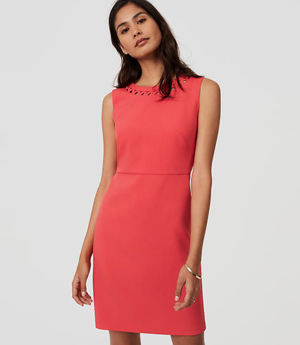 Image of Cutout Neck Shift Dress
