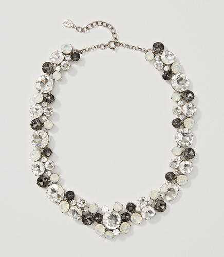 Image of Monochrome Crystal Cluster Necklace