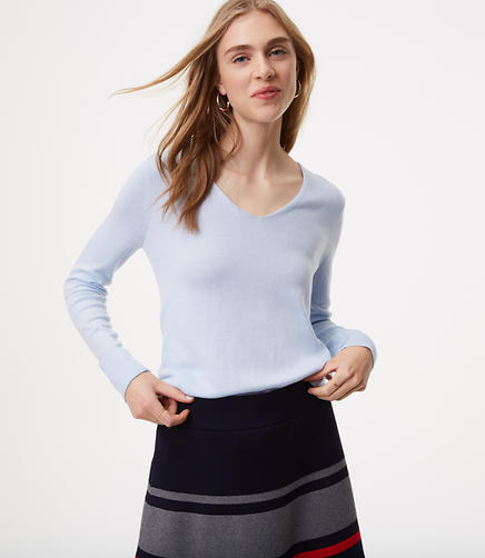 Rounded V-Neck Sweater