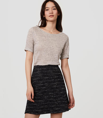 Image of Tweed Flippy Skirt
