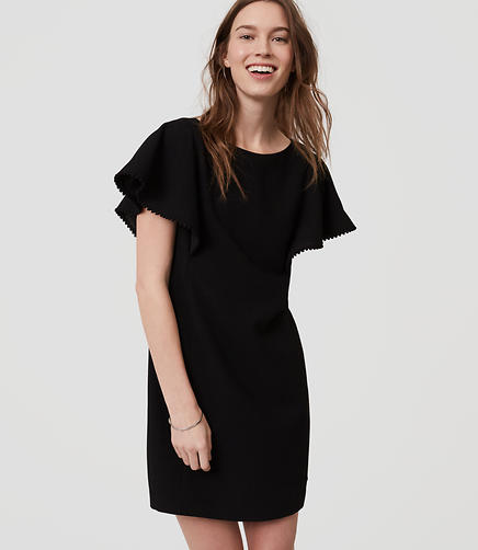 Image of Petite Pom Pom Shift Dress