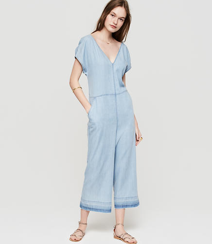 Image of Lou & Grey Chambray Culotte Jumpsuit