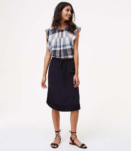 Image of Two Tone Drawstring Skirt