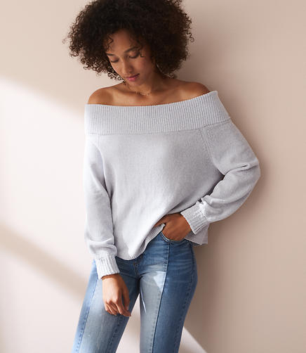 Lou & Grey Chenille Off The Shoulder Sweater