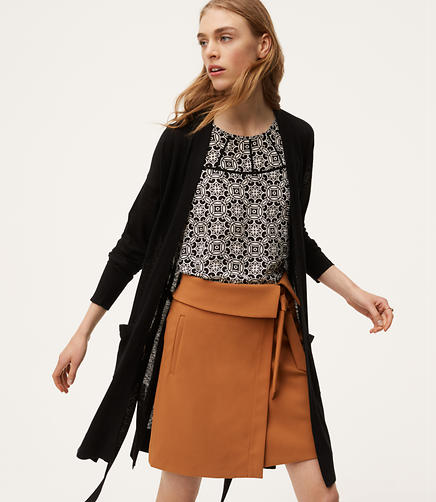 Image of Belted Open Cardigan