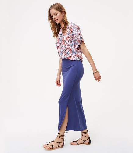 Image of Seamed Maxi Skirt
