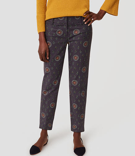 Petite Floral Medallion Riviera Pants in Julie Fit
