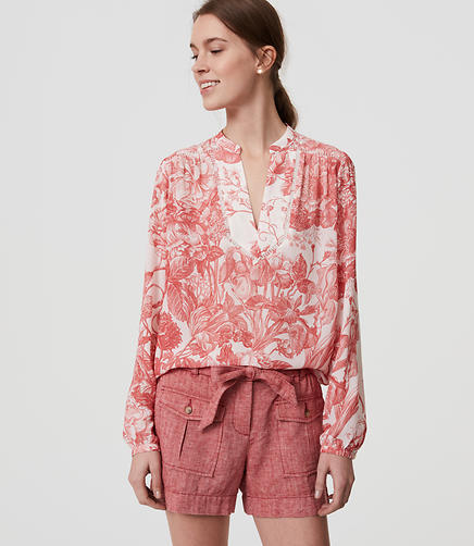 Image of Botanic Lacy Split Neck Blouse